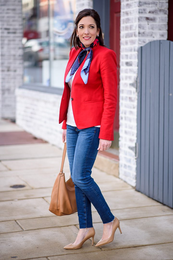 How To Style A Red Blazer Amp Jeans