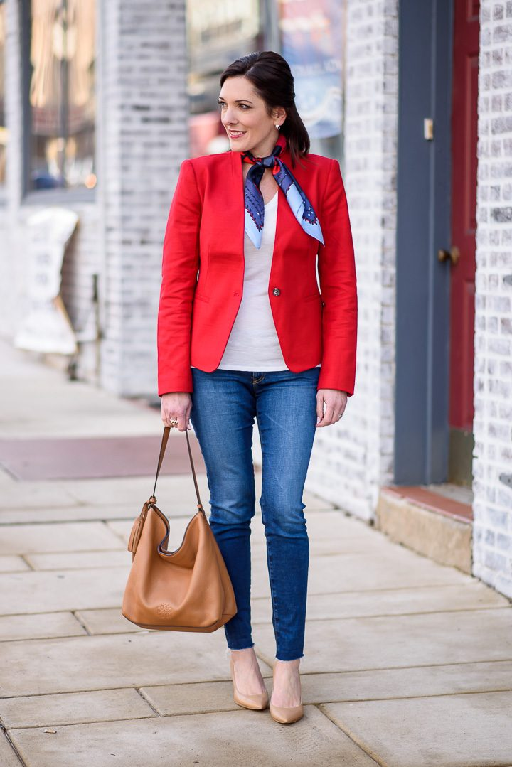 How to Style a Red Blazer & Jeans