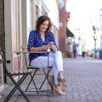Blue & White Polka Dot Portofino Shirt Outfit for Spring