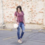 Spring Fashion: Strap Front Tee in Nashville