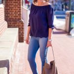 Eyelet Off-the-Shoulder Top Outfit with Lucky Brand