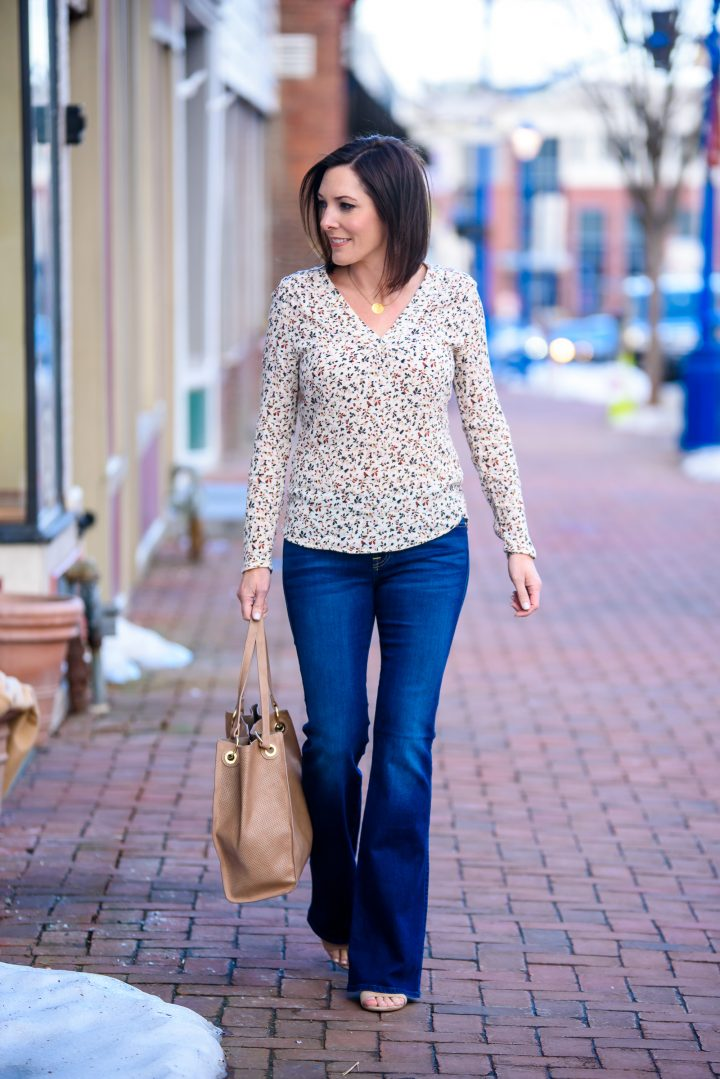 Fashion Friday: Print V-Neck Top Redux