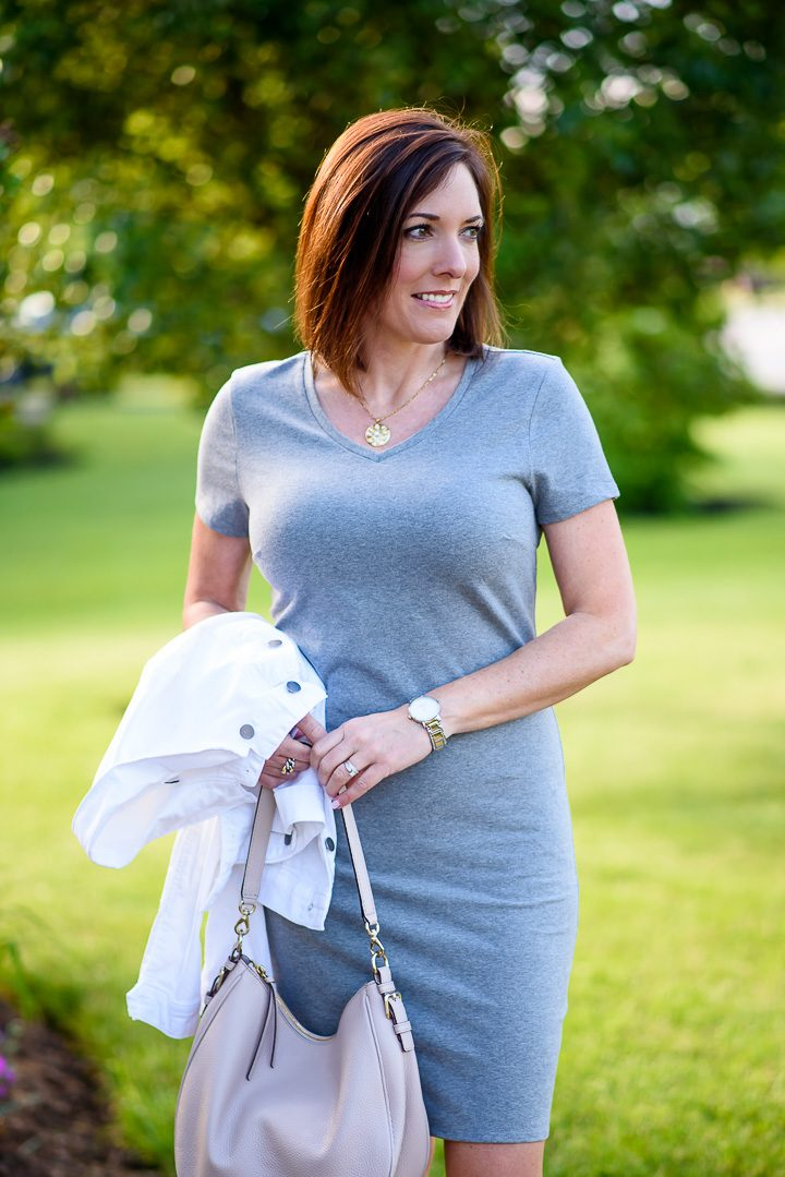 Old Navy Fitted V-Neck Tee Dress