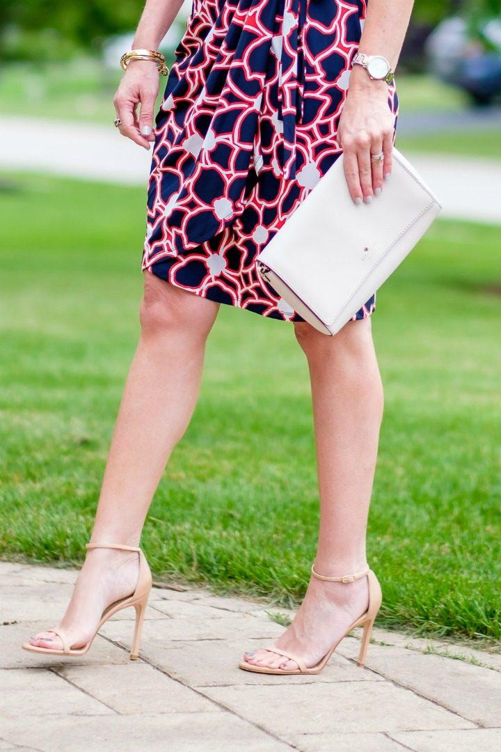 Summer Wrap Dress with Stuart Weitzman Nudistsong Sandals