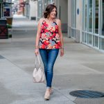 Tropical Floral Top Outfit