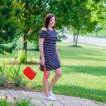 Cold Shoulder Striped Sneaker Dress