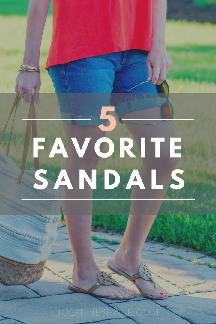 5 Favorites: Summer Sandals