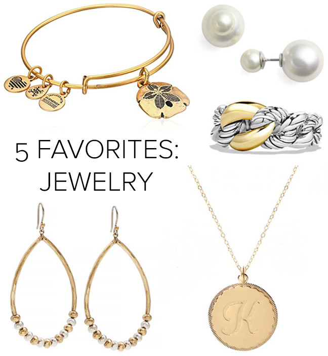 5 Favorites: Jewelry Edition