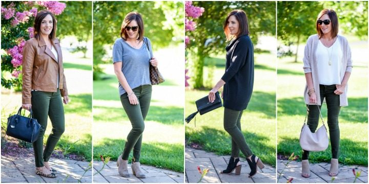 4 Ways to Wear Spruce Green Jeans This Fall #NSale
